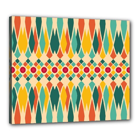 Festive Pattern Canvas 24  X 20  by linceazul