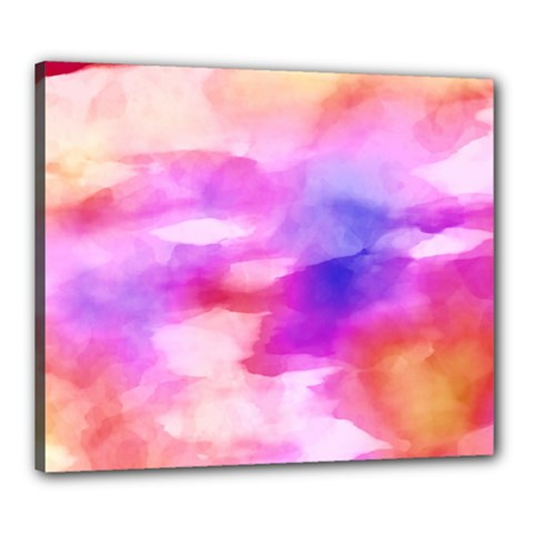 Colorful Abstract Pink And Purple Pattern Canvas 24  X 20  by paulaoliveiradesign