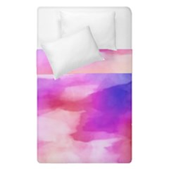 Colorful Abstract Pink And Purple Pattern Duvet Cover Double Side (single Size) by paulaoliveiradesign