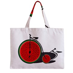 Watermelon Bicycle  Zipper Mini Tote Bag by Valentinaart