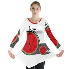 Watermelon Bicycle  Long Sleeve Tunic