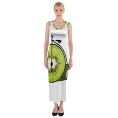 Kiwi Bicycle  Fitted Maxi Dress