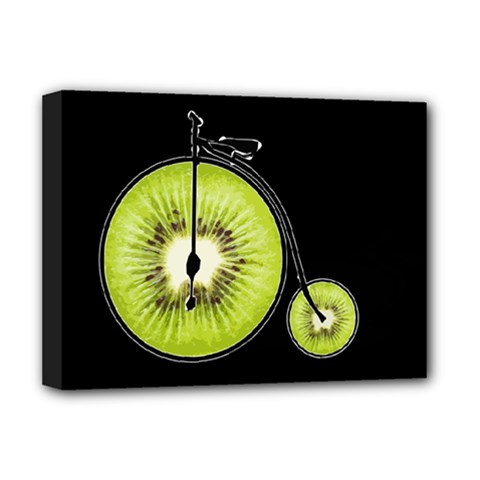 Kiwi Bicycle  Deluxe Canvas 16  X 12   by Valentinaart