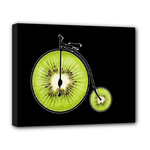 Kiwi Bicycle  Deluxe Canvas 20  X 16   by Valentinaart