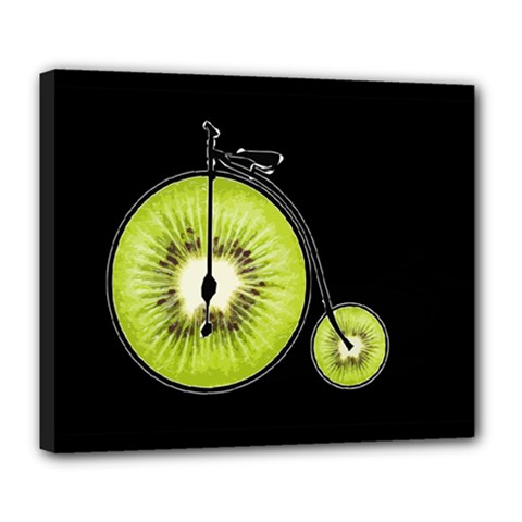 Kiwi Bicycle  Deluxe Canvas 24  X 20   by Valentinaart