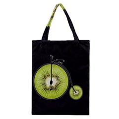 Kiwi Bicycle  Classic Tote Bag by Valentinaart