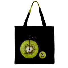 Kiwi Bicycle  Zipper Grocery Tote Bag