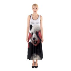 Boxing Panda  Sleeveless Maxi Dress