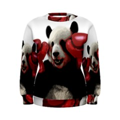Boxing Panda  Women s Sweatshirt