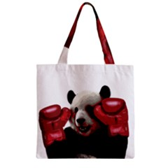 Boxing Panda  Zipper Grocery Tote Bag by Valentinaart