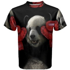 Boxing Panda  Men s Cotton Tee