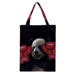 Boxing Panda  Classic Tote Bag by Valentinaart