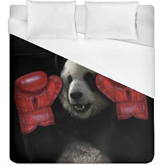 Boxing Panda  Duvet Cover (king Size) by Valentinaart