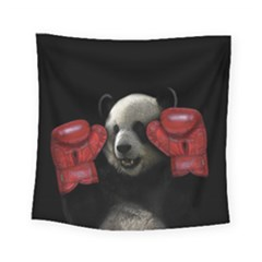Boxing Panda  Square Tapestry (small)
