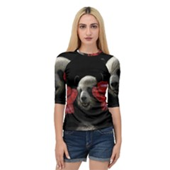 Boxing Panda  Quarter Sleeve Tee