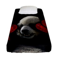 Boxing Panda  Fitted Sheet (single Size) by Valentinaart