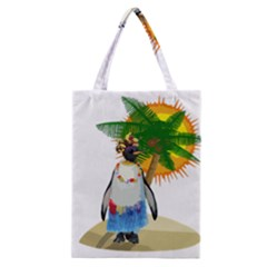 Tropical Penguin Classic Tote Bag by Valentinaart