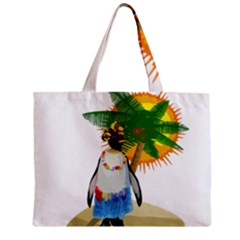 Tropical Penguin Zipper Mini Tote Bag