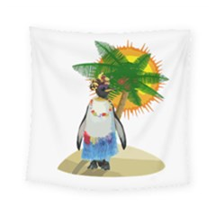 Tropical Penguin Square Tapestry (small)