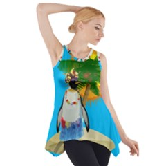 Tropical Penguin Side Drop Tank Tunic by Valentinaart