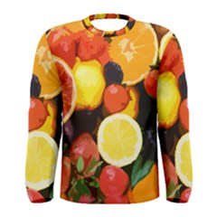 Fruits Pattern Men s Long Sleeve Tee