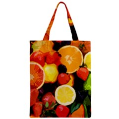 Fruits Pattern Zipper Classic Tote Bag by Valentinaart