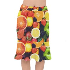 Fruits Pattern Mermaid Skirt by Valentinaart
