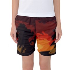Landscape Women s Basketball Shorts