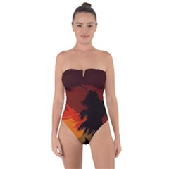 Landscape Tie Back One Piece Swimsuit