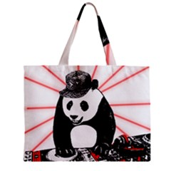 Deejay Panda Zipper Mini Tote Bag