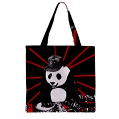Deejay Panda Zipper Grocery Tote Bag by Valentinaart