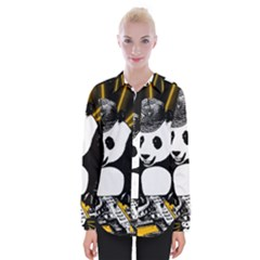 Deejay Panda Womens Long Sleeve Shirt by Valentinaart