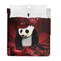Deejay Panda Duvet Cover Double Side (full/ Double Size) by Valentinaart