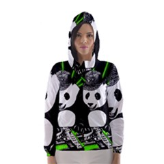 Deejay Panda Hooded Wind Breaker (women)