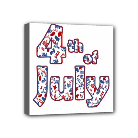 4th Of July Independence Day Mini Canvas 4  X 4  by Valentinaart