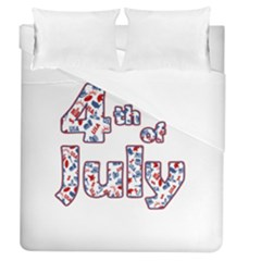 4th Of July Independence Day Duvet Cover (queen Size) by Valentinaart