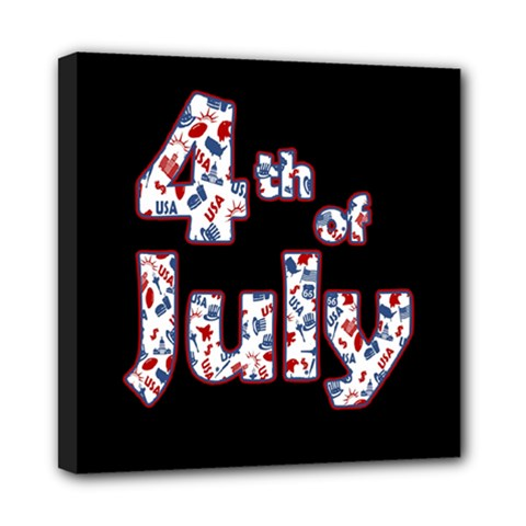 4th Of July Independence Day Mini Canvas 8  X 8