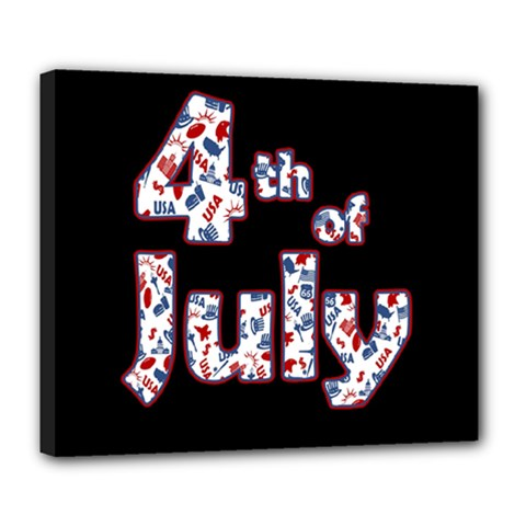 4th Of July Independence Day Deluxe Canvas 24  X 20   by Valentinaart