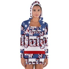 4th Of July Independence Day Long Sleeve Hooded T Shirt