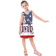 4th Of July Independence Day Kids  Sleeveless Dress by Valentinaart