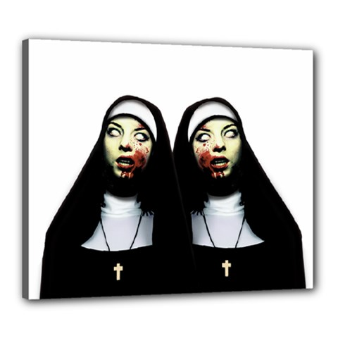 Horror Nuns Canvas 24  X 20  by Valentinaart