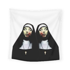 Horror Nuns Square Tapestry (small) by Valentinaart