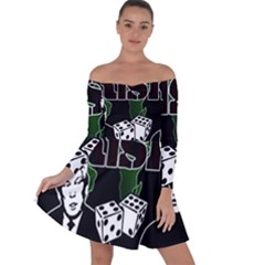 Nuclear Explosion Trump And Kim Jong Off Shoulder Skater Dress