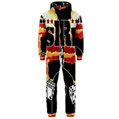 Nuclear Explosion Trump And Kim Jong Hooded Jumpsuit (men)