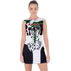 Nuclear Explosion Trump And Kim Jong Lace Up Front Bodycon Dress