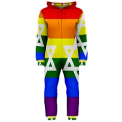 Gay Pride Israel Flag Hooded Jumpsuit (ladies)