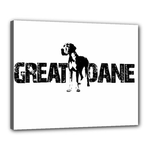 Great Dane Canvas 20  X 16  by Valentinaart