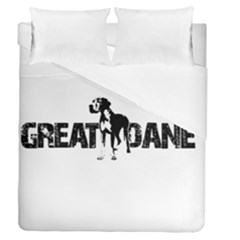 Great Dane Duvet Cover Double Side (queen Size) by Valentinaart
