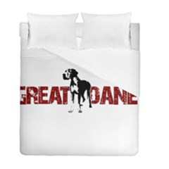 Great Dane Duvet Cover Double Side (full/ Double Size) by Valentinaart