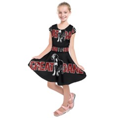 Great Dane Kids  Short Sleeve Dress by Valentinaart
